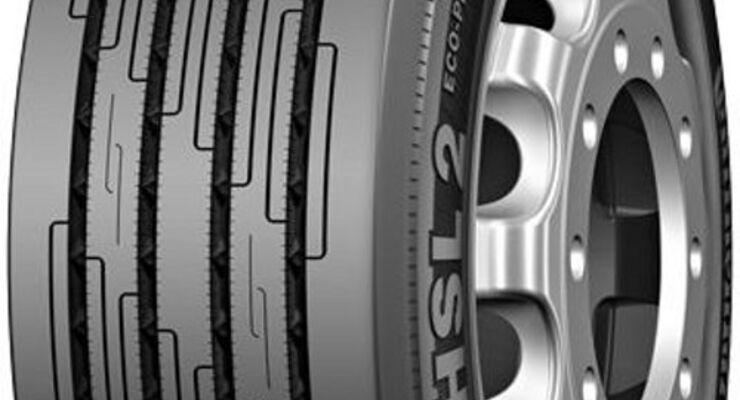 Reifen für erhöhte Lasten auf der Vorderachse