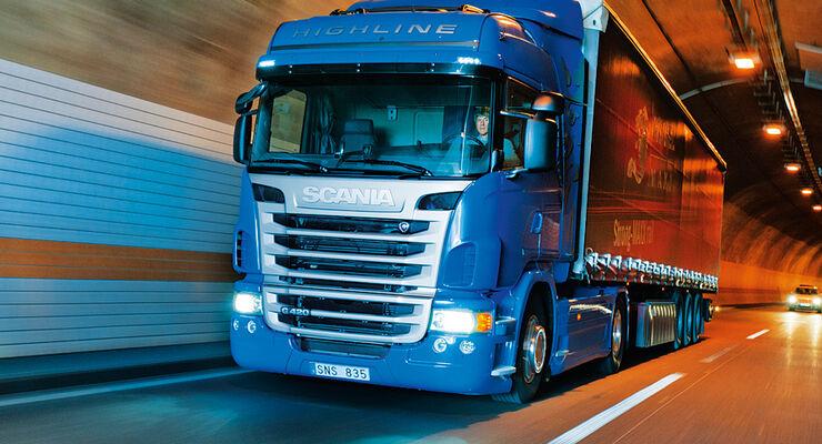 Scania, G 420, Test, Lkw, G-Baureihe, SCR-Motor