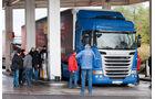 Scania G, Tankstelle, Lkw, Test, Verbrauch, Sprit