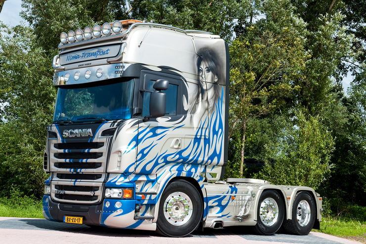 "Scania ""Ghost Rider"" von Nima Transport"