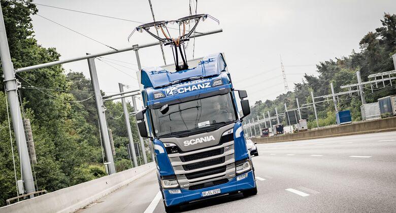 Scania R 450 Hybrid Oberleitungs-Lkw