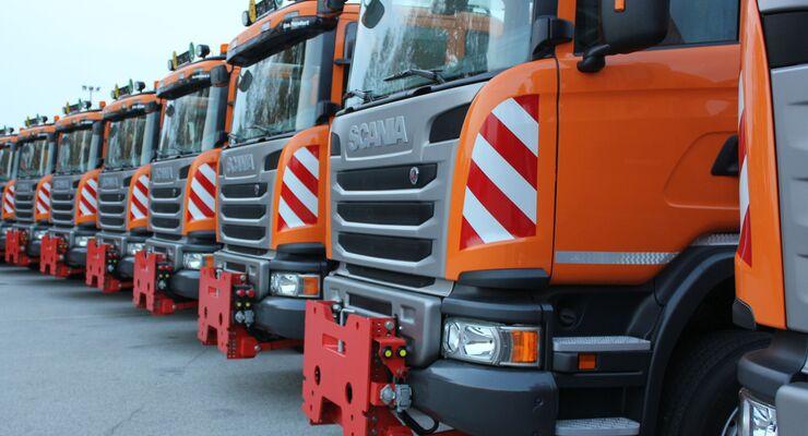 Scania Schneeräumfahrzeuge