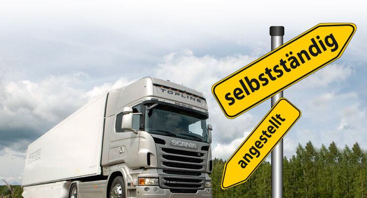 Selbstständig oder angestellt - alle Infos, Tipps und zwei Erfolgsstories zum Thema Existenzgründung im Transportgewerbe.