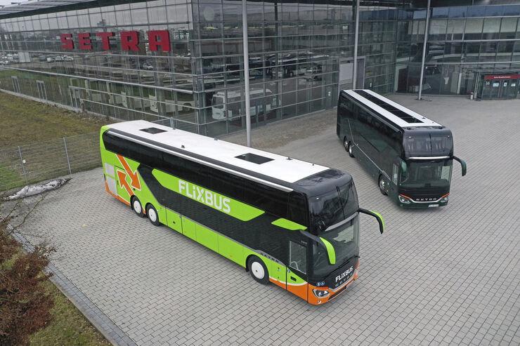 Setra DD Vergleich Flixbus Fernlinie Reisebus Doppeldecker Daimler 2020