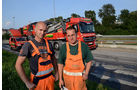Straßenbau Fräse Asphalt, Mercedes Actros, Marcel Zech, Michael Lehmann