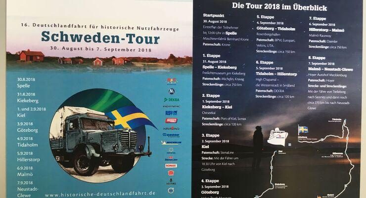 Strecke der Schweden Tour