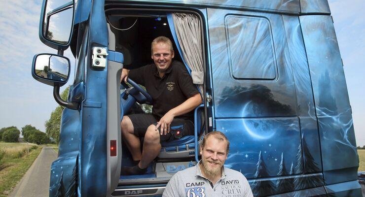 Supertruck DAF XF blau