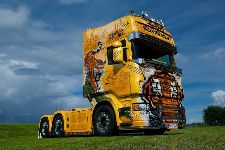 Supertruck FERNFAHRER 03-2011, Scania R 500 Tiger von Juha Ristimaa aus Finnland, Truck
