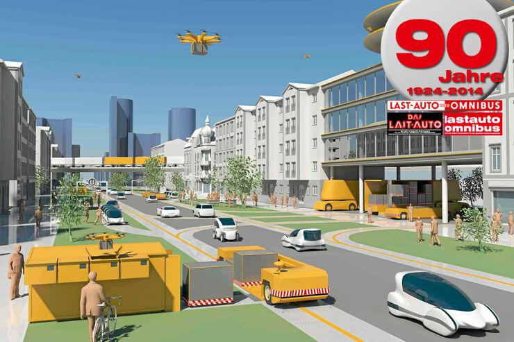 Transport in der Zukunft, 90 Jahre lastauto omnibus