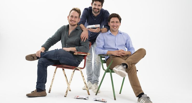 Trucksters-Gründer Luis Bardají, Ramón Castro, Gabor Balogh  (von rechts)