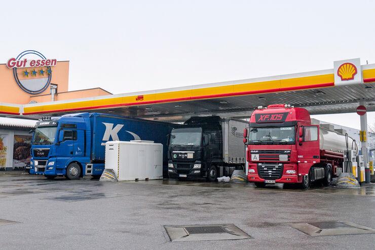 Truckstop, Euro-Rastpark Regensburg Ost, Tankstelle