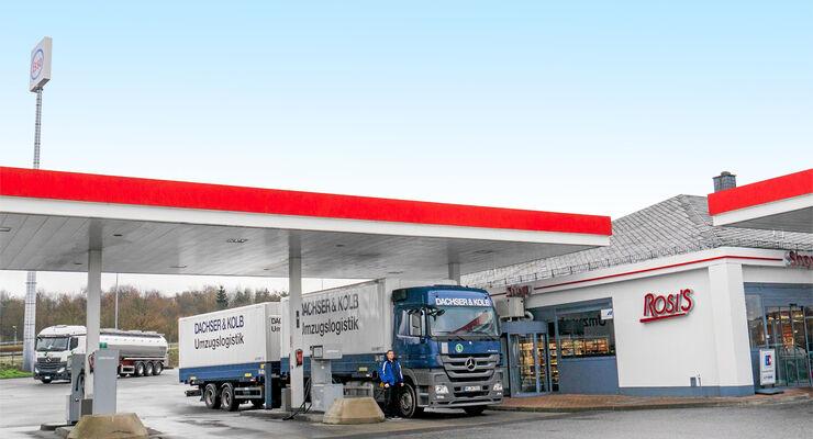 Truckstop, Tank & Rast Pfalzfeld, Rosi`s, Tankstelle