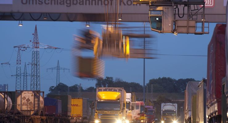 Umschlagbahnhof, Terminal, Köln-Eifeltor, Kombiverkehr