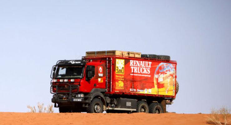 Unfall auf der Renault-Trucks-Reise
