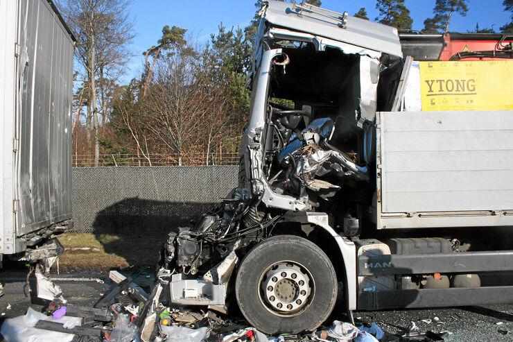 Unfallrisiken, geringe Sicherheitsabstand