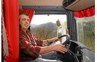 Unterwegs mit Wechselsilos, Kabine, Scania
