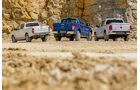 Vergleichstest, Ford Ranger, VW Amarok, Toyota Hilux, Heck