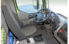 Vergleichstest Hybridlastwagen, DAF Cockpit