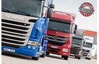 Vergleichstest, MAN TGS, Mercedes Axor, Scania G, Volvo FM, Lkw