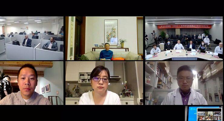 Videokonferenz zu Corona