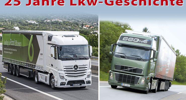 Volvo 1992, Daimler 2017, 25 Jahre Lkw