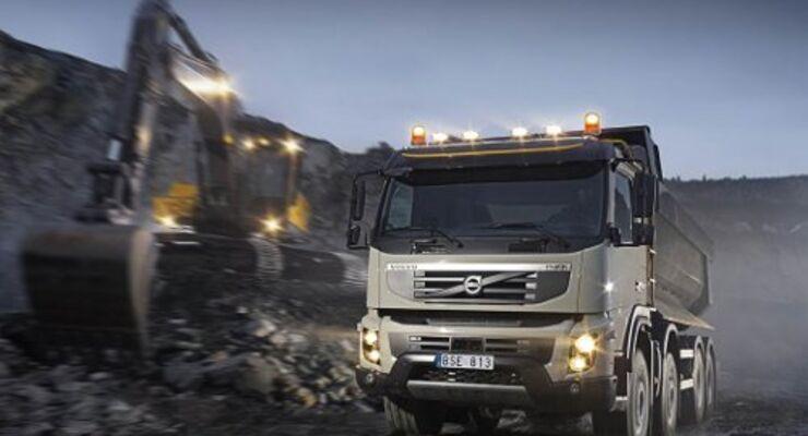Volvo FM glänzt auf dem Bau