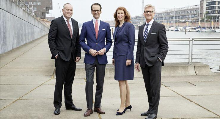 Von links nach rechts: Hylton Gray, Philip W. Herwig, Ulrike Baum, Hans-Ludger Körner.