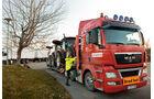 Wintererprobung in Arjeplog, Knorr-Bremse, MAN, Bred last, Erprobungsfahrzeug