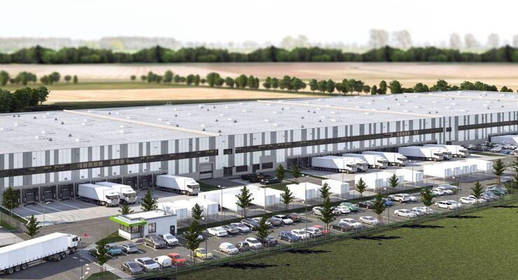 Zalando-Distributionszentrum in Halle an der Saale