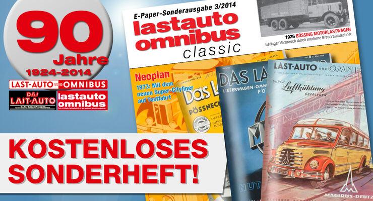 lastauto omnibus feiert 90-jähriges Jubiläum mit dem dritten Sonderheft Classic